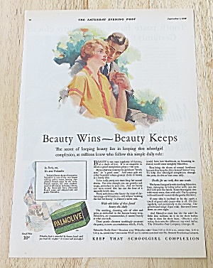 1928 Palmolive With Woman & Man
