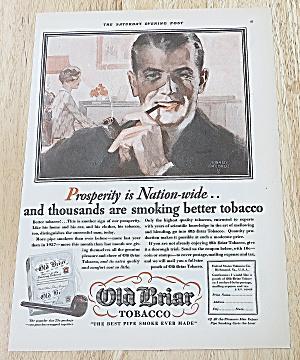 1929 Old Briar Tobacco With Man Smoking (Image1)