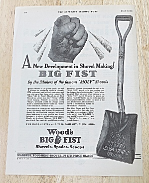 1929 Wood's Big Fist Shovel With Shovel