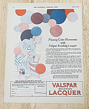 1926 Valspar Lacquer With Woman Painting