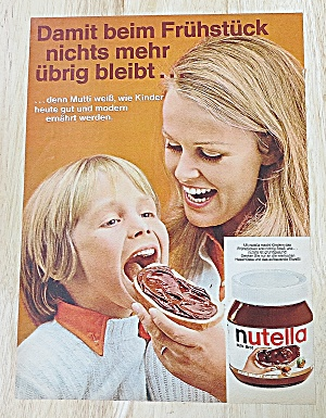1972 Nutella With Mom & Little Boy