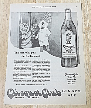 1922 Clicquot Club Ginger Ale With Eskimo