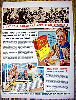 1940 Post Toasties w/ a Boy Scout with a Bowl of Cereal (Image1)