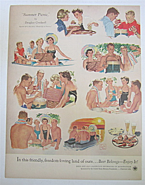 1954 Summer Picnic By Douglass Crockwell  (Image1)