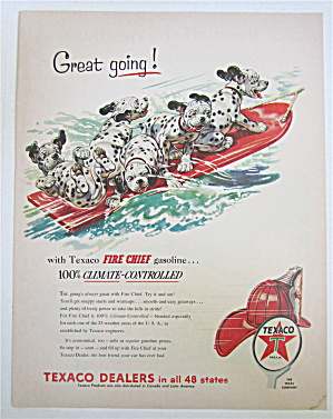 1954 Texaco Fire Chief Gasoline with Dalmatian Puppies (Image1)