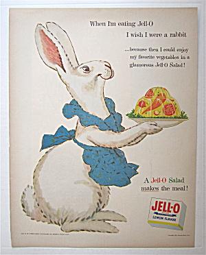 1954 Jell-O Lemon Gelatin Dessert with Mother Rabbit  (Image1)