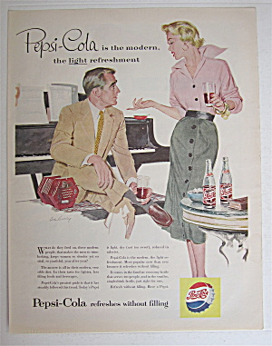 1954 Pepsi Cola (Pepsi) With Man & Woman Talking