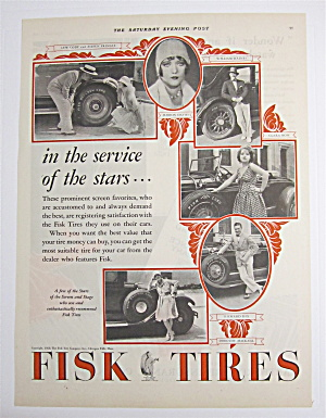 1928 Fisk Tires With Clara Bow, Richard Dix & More