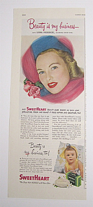 1949 Sweetheart Toilet Soap With Leona Fredericks