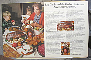 1971 Log Cabin Syrup With Woman Cooking & Baking
