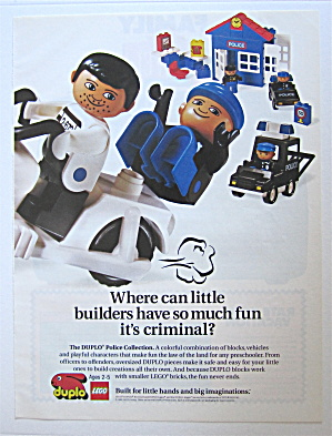 1992 Duplo Lego Blocks With Police Station