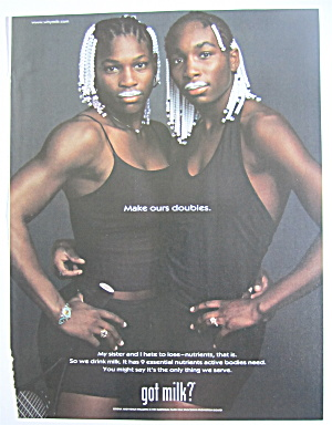 1999 Got Milk With Serena & Venus Williams