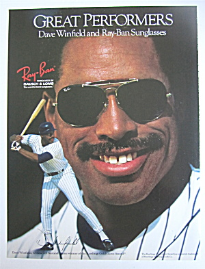1990 Ray Ban Sunglasses With Dave Winfield