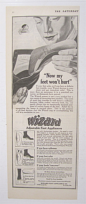 1919 Wizard Foot Appliances With Man & Shoe
