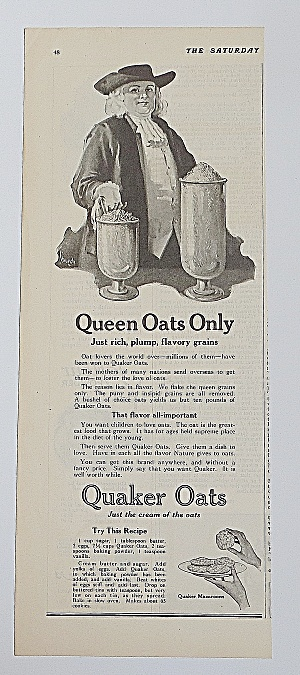 1922 Quaker Oats With Quaker Oats Man