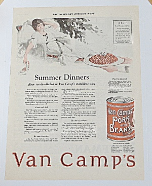 1922 Van Camp's Pork & Beans With Summer Dinner