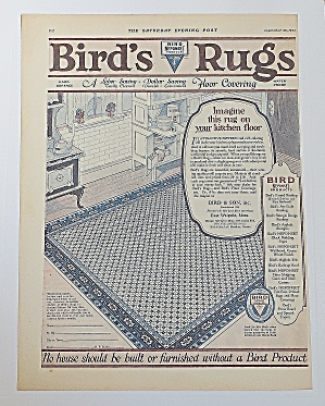 1923 Bird's Rugs With Rug In Kitchen