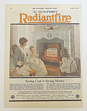 1923 Humphrey Radiantfire With Woman & Kids