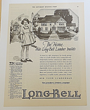 1923 Long Bell Lumber With Girl & Home