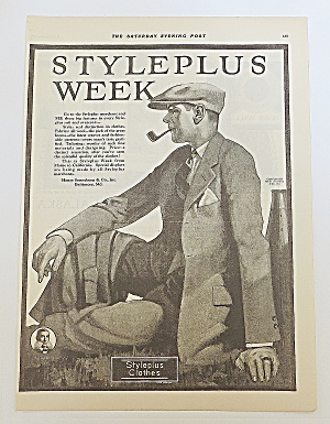 1923 Styleplus Clothes With Man & Pipe