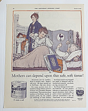 1926 Scot Tissue w/Mom & Children Getting Ready For Bed (Image1)