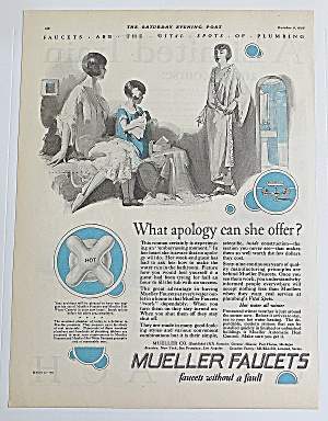 1926 Mueller Faucets With Women Talking (Image1)