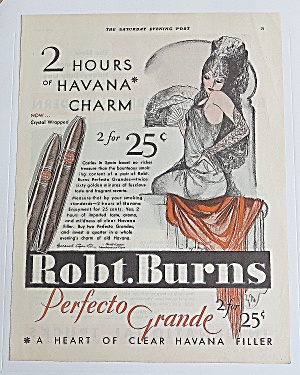 1930 Robt Burns Perfecto Grande With Showgirl