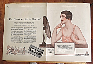 1926 Palmolive Soap With Woman Looking In Mirror