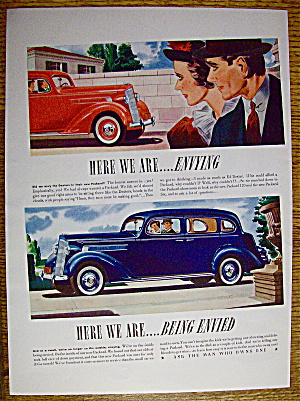 1937 Packard with Couple Envying Another Couple (Image1)