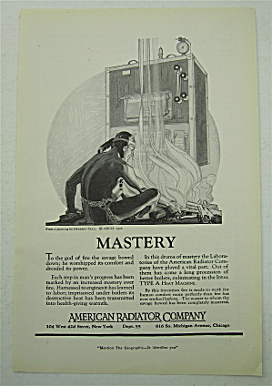 1922 American Radiator Company with Indian & Fire  (Image1)