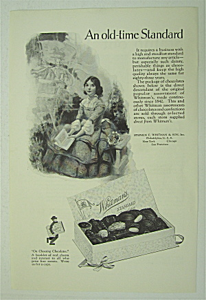 1925 Whitman's Candies With Little Girl & Book