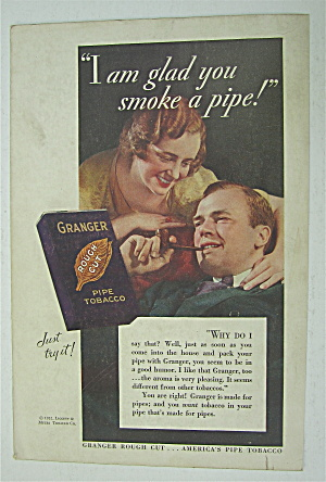 1932 Granger Tobacco with Man Smoking Pipe  (Image1)