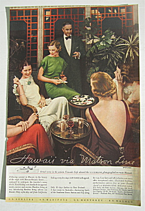 1935 Matson Line with Hawaii (Image1)