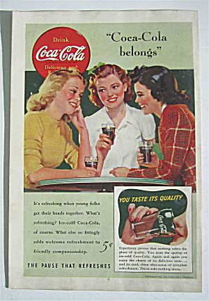 1941 Coca Cola (Coke) with 3 Women Talking  (Image1)