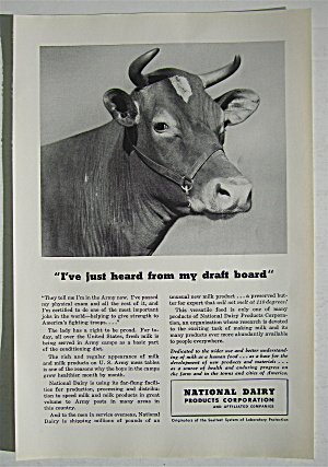 1942 National Dairy Products With Cow With Horns