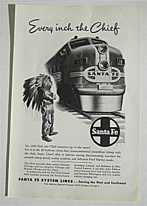 1948 Santa Fe with Little Indian Boy Watching Train (Image1)