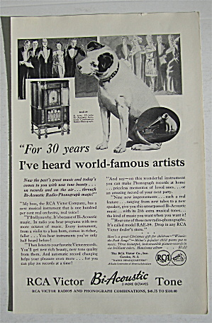 1932 Rca Victor Bi-acoustic Tone With Dog