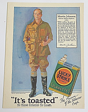 1928 Lucky Strike Cigarettes With Martin Johnson (Image1)