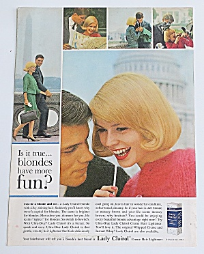 1963 Lady Clairol With Lovely Blonde Woman