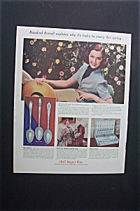 1938 Dual Ad: 1847 Rogers Ad & Baker's Cocoa