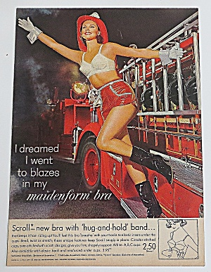 1963 Maidenform Bra With Lady Fire Fighter