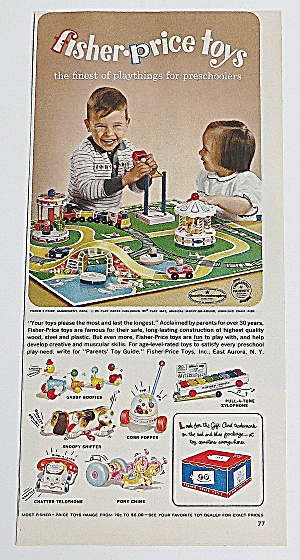 1963 Fisher Price Toys With Amusement Park
