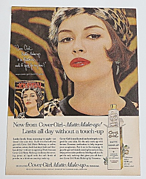 1963 Cover Girl Matte Make Up With Woman In Leopard Hat