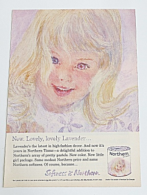 1963 Northern Tissue With Lovely Lavender