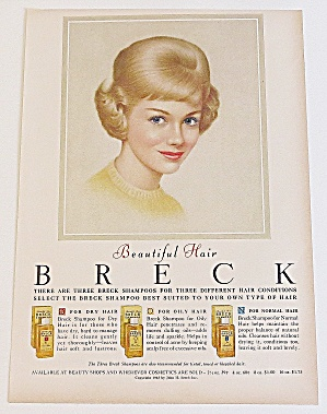 1963 Breck Shampoo With Lovely Blonde With Blue Eyes
