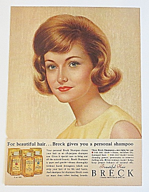 1963 Breck Shampoo With Lovely Brunette