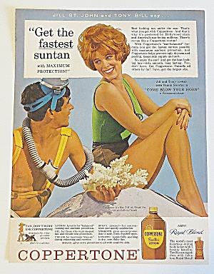1963 Copperstone Suntan Lotion With Jill St. John