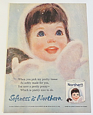 1963 Northern Tissue With Little Girl In Winter
