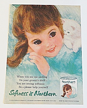 1963 Northern Tissue With Little Girl & Kitten