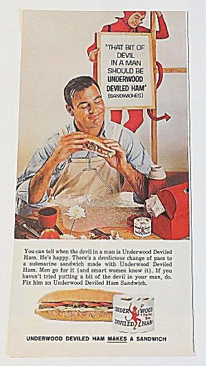 1963 Underwood Deviled Ham With Man & Sandwich (Image1)
